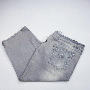 Earl Gray Embellished Capri Jeans - Size 24W - NWT